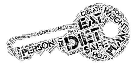 Top Safe Diets text background word cloud concept Illustration