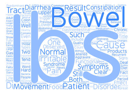 ibs: IBS Syndrome Explained Word Cloud Concept Text Background