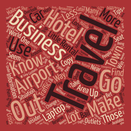 Insider Tips for Business Travel Word Cloud Concept Text Background Illustration