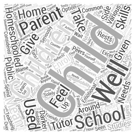 anyone: Homeschooling the darker side dlvy nicheblowercom Word Cloud Concept Illustration