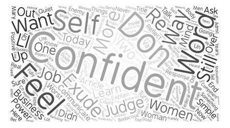 Two Simple Things You Can Do Today to Exude Confidence text background word cloud concept Illusztráció