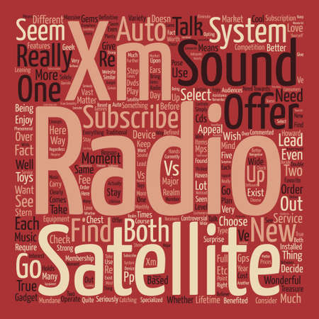 xm: XM Satellite Radio Vs text background word cloud concept