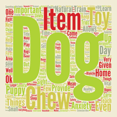 blanche: How To Train Your Dog Not To Chew text background word cloud concept