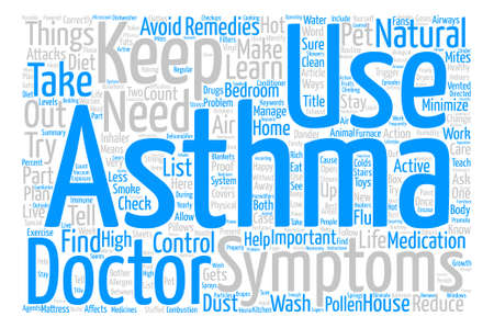 How to Live With Your Asthma Word Cloud Concept Text Background