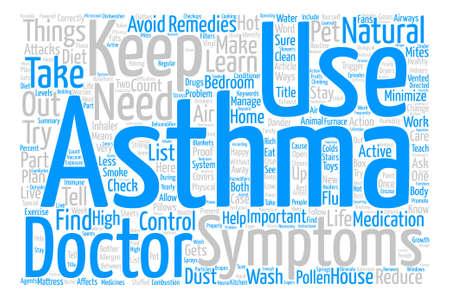 Comment vivre avec votre asthme Word Cloud Concept Background Background