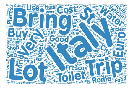 pompeii: Our Trip To Italy April Word Cloud Concept Text Background