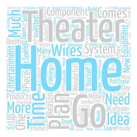 Home Theater Practicalities text background word cloud concept