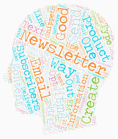 Create And Send Html Email Newsletters text background wordcloud concept