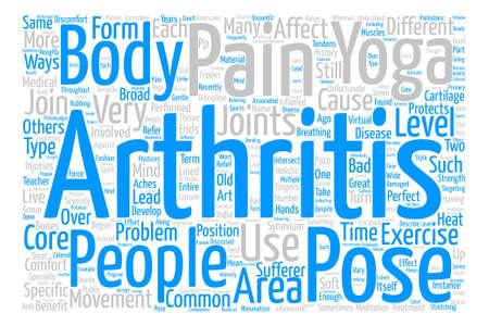 Yoga as a holistic treatment of Arthritis text background word cloud concept