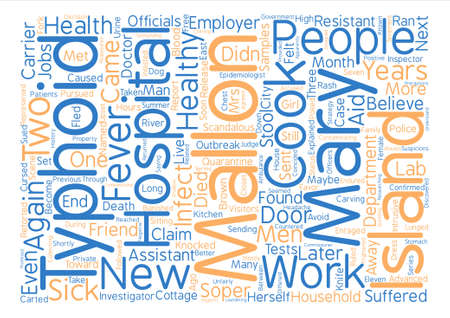 named person: The Scandalous Typhoid Mary text background word cloud concept