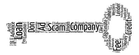 legitimate: What Is The Truth About Advance Fee Loan Scams Word Cloud Concept Text Background