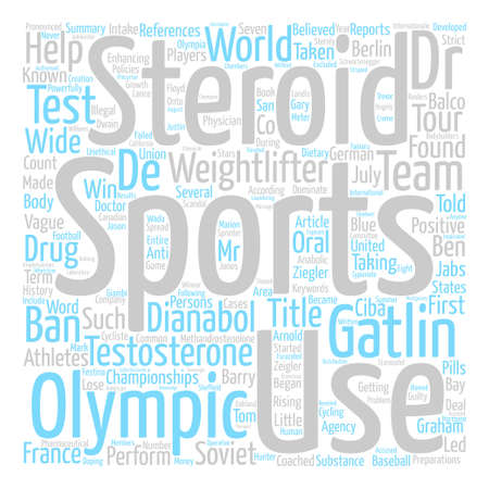 Steroid Use in Sports text background word cloud concept