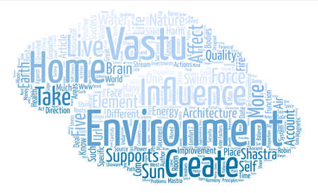 How to Create a Positive Environment in Your Home With Vastu text background word cloud concept