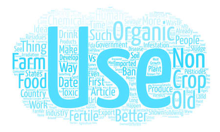 Organic Food vs Non Organic Which is better text background word cloud concept