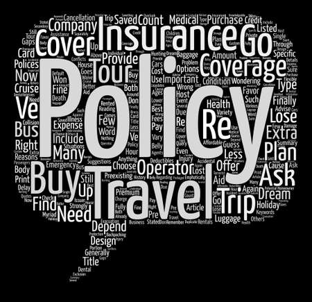 finally: The Importance of Travel Insurance text background word cloud concept
