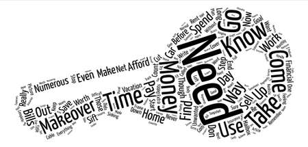 Money Makeover text background word cloud concept
