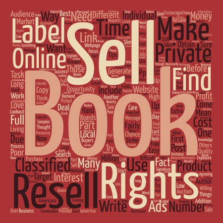 resell: Make Money with Private Label E book Resell Rights text background word cloud concept