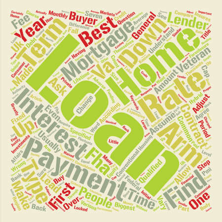 How Do I Find The Best Home Loan text background word cloud concept Illustration