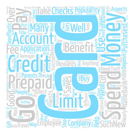 twists: Prepaid Credit Cards text background word cloud concept Illustration