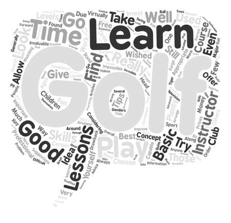 looked: Should You Take Golf Lessons Word Cloud Concept Text Background
