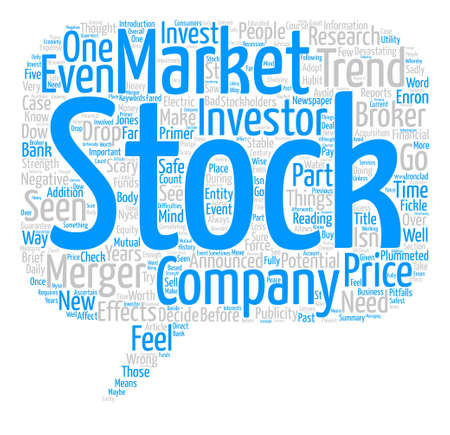 incorrect: The Stock Market A Brief Primer Word Cloud Concept Text Background