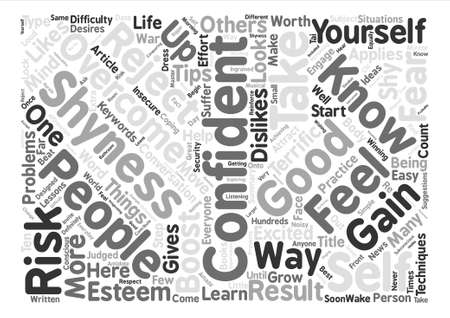Ways To Overcome Shyness And Gain Confidence text background word cloud concept