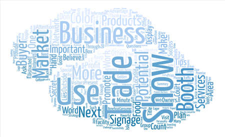 Trade Shows Word Cloud Concept Text Background