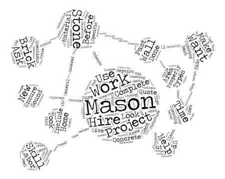 Some Great Tips To Help You Before You Hire A Mason text background word cloud concept 矢量图片