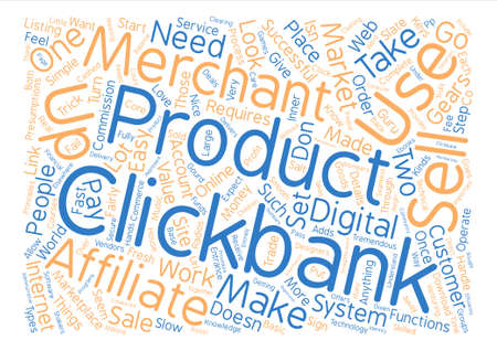 The Gears that Turn Clickbank text background word cloud concept Illustration
