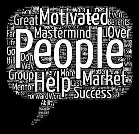 The Great M s of Success Word Cloud Concept Text Background Illustration