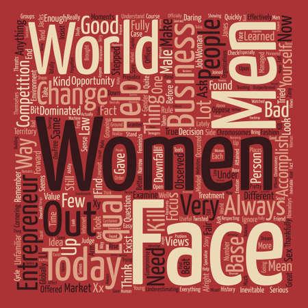 oppose: Women entrepreneur text background word cloud concept