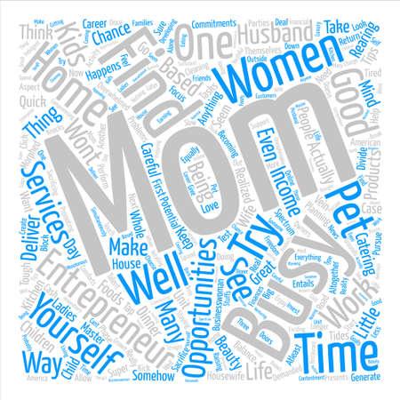Women Entrepreneurs Word Cloud Concept Text Background