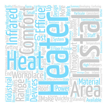 Infrared Heaters text background word cloud concept