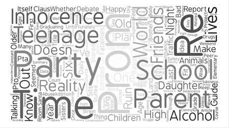 Why Plan An After Prom Party text background word cloud concept