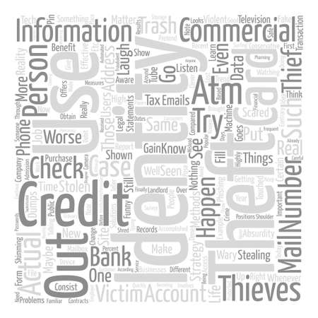 identity theft commercials text background word cloud concept
