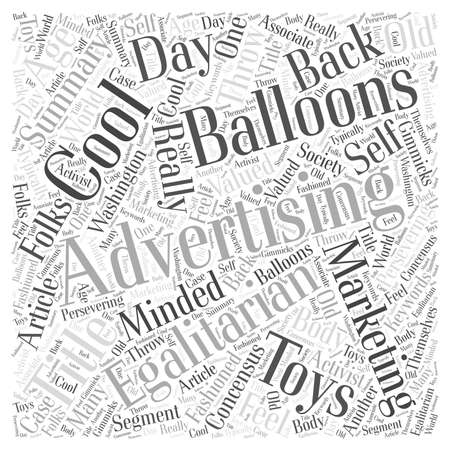 Cool Advertising Balloons For Your Marketing Word Cloud Concept