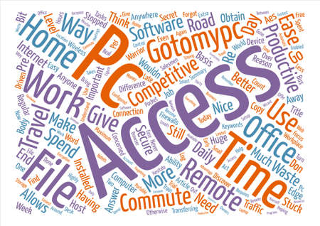 How Gotomypc Can Ease Your Daily Commute Word Cloud Concept Text Background