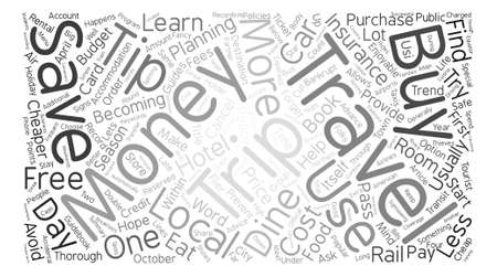 money tips for travelers word cloud concept text background royalty
