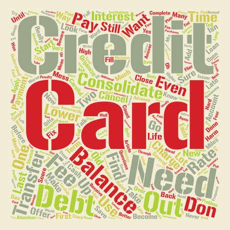 クレジット カード債務単語クラウド コンセプト テキスト背景を整理します。  イラスト・ベクター素材