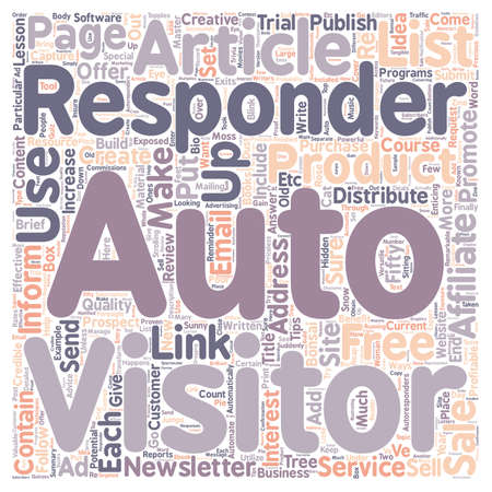 finally: Creative and Profitable Ways in which to Use AutoReponders text background wordcloud concept Illustration