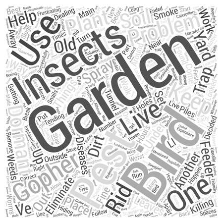 looked: Dealing with Garden Pests Word Cloud Concept