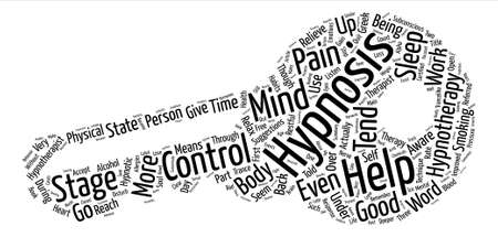 Hypnotherapy Free Your Mind and Soul Word Cloud Concept Text Background Vektorové ilustrace