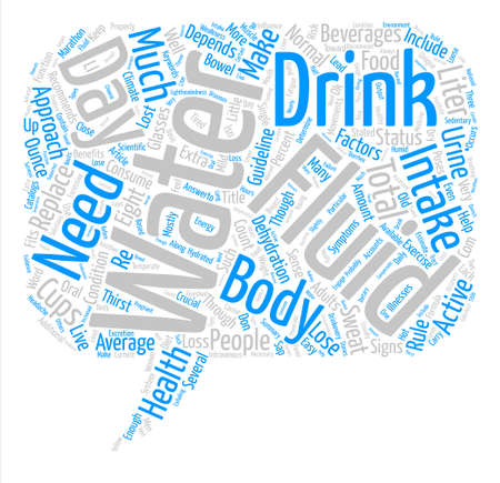 How much water to drink text background word cloud concept