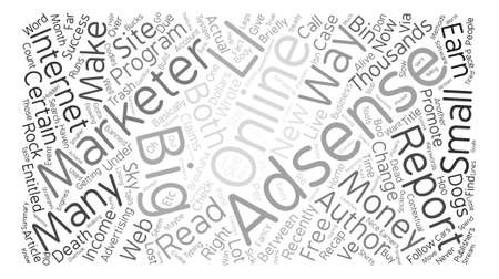 Is My Adsense Money Dead Not Yet Word Cloud Concept Text Background Illustration