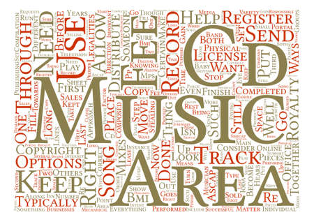 Legalities of your CD text background word cloud concept