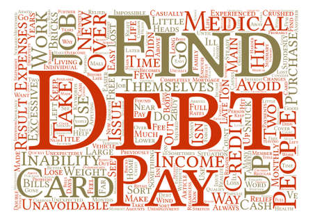 How Do People Get Into Debt Word Cloud Concept Text Background Çizim