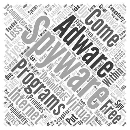 Programma gratuito adware spyware Word Cloud Concept