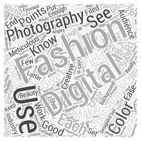 Digital fashion photography Word Cloud Concept