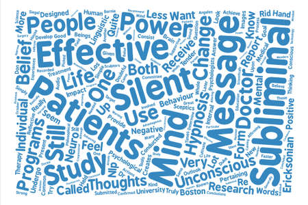silent: Silent Subliminals How Effective Are They Word Cloud Concept Text Background Illustration