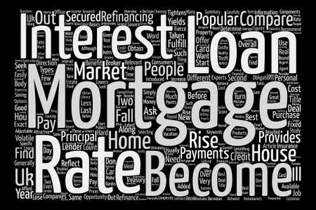 Mortgages In The UK Word Cloud Concept Text Background